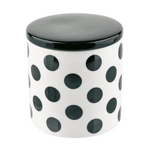 Dóza s víkem Miss Étoile Big Black Dots, 11,5 cm