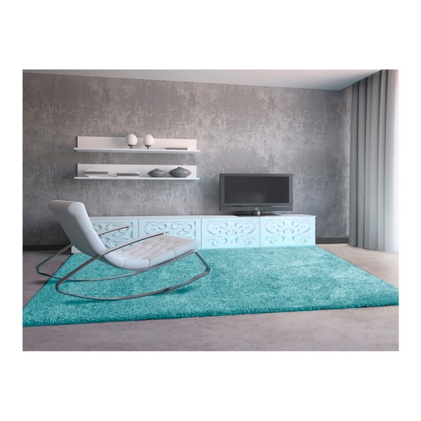Bledě modrý koberec Universal Aqua, 57 x 110 cm