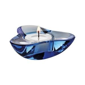 Svícen na čajovou svíčku Aura, tmavá modř