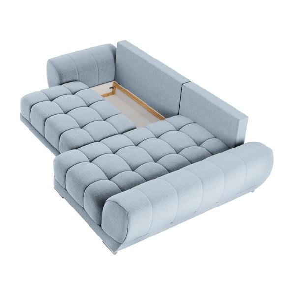 Canapea extensibilă de colț Windsor & Co Sofas Cloudlet, pe partea dreaptă, albastru deschis