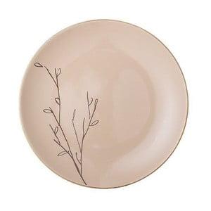 Růžový kameninový mělký talíř Bloomingville Rio, ⌀22 cm