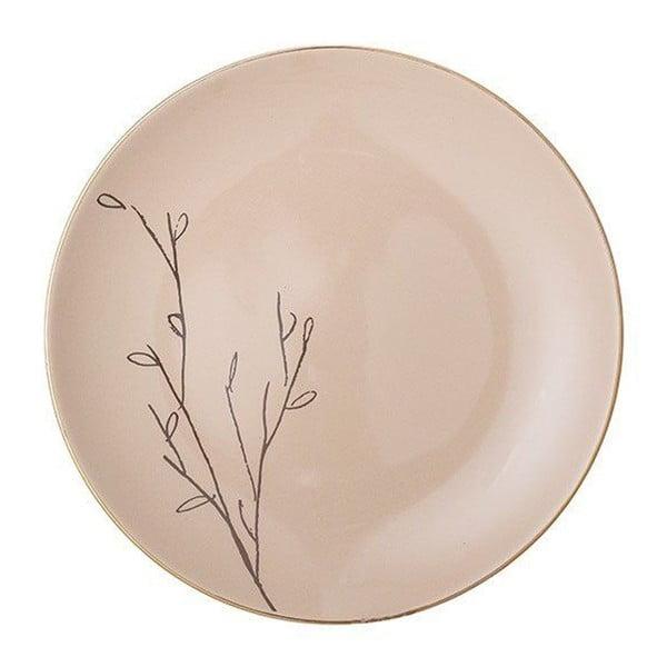 Różowy talerz ceramiczny Bloomingville Rio, ⌀22 cm