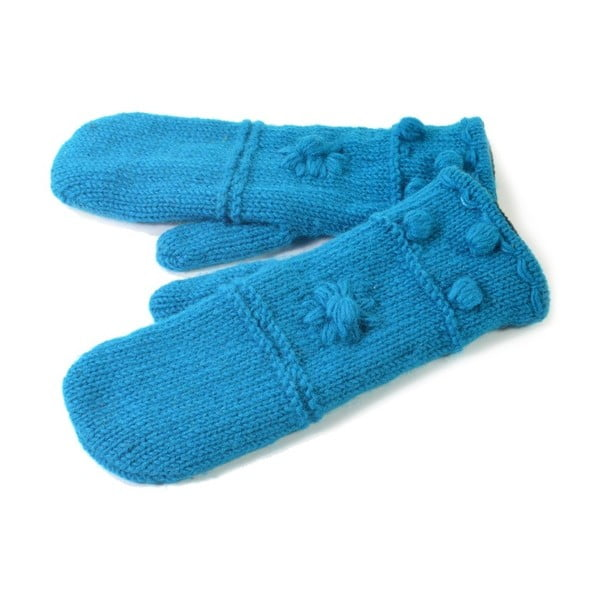 Vlněné palčáky Modrá vlna