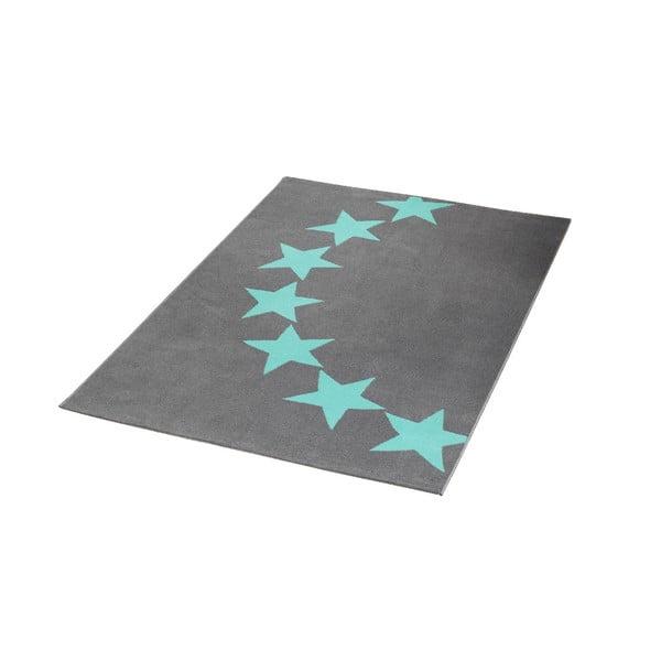 Koberec Hanse Home City & Mix Šedo-modré hvězdy, 140x200cm
