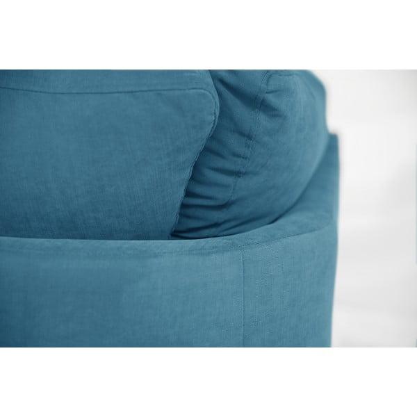 Rohová pohovka Jalouse Maison Irina, levý roh, modrá