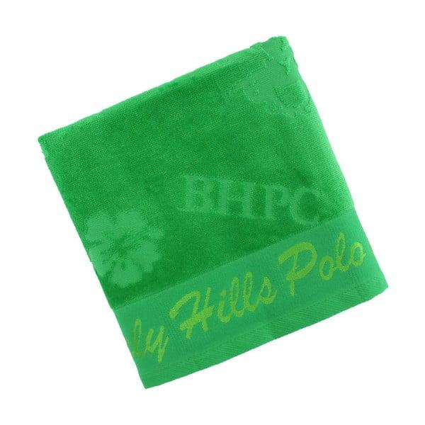Zelený bavlněný ručník BHPC Velvet, 50x100 cm