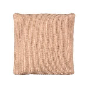 Polštář s náplní Moss Knit Peach, 50x50 cm
