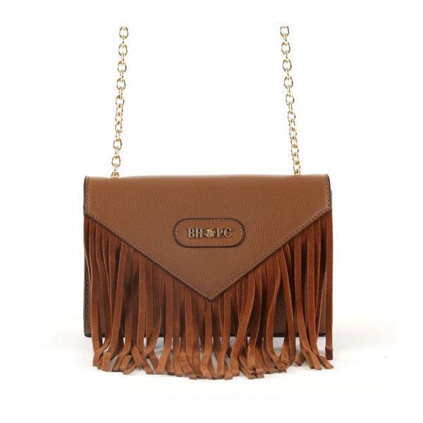 Hnědá kabelka z telecí kůže Beverly Hills Polo Club Bella
