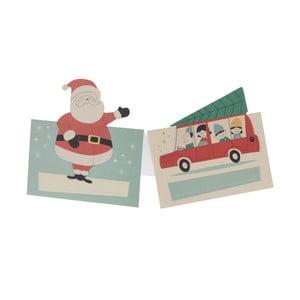 Set 6 insigne pentru nume cu tematică Crăciun Rex London Festive Family