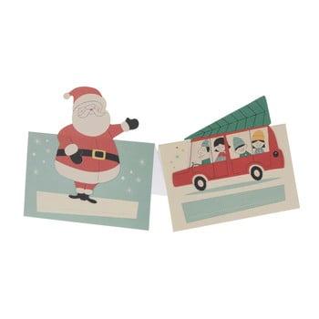 Set 6 insigne pentru nume cu tematică Crăciun Rex London Festive Family imagine