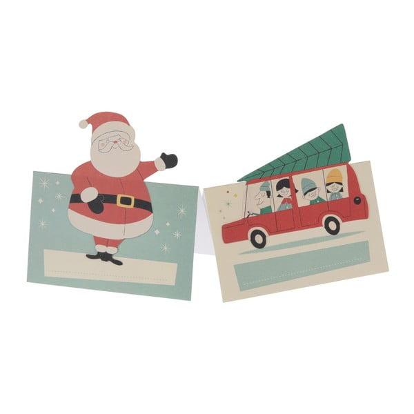 Sada 6 jmenovek s vánočním motivem Rex London Festive Family
