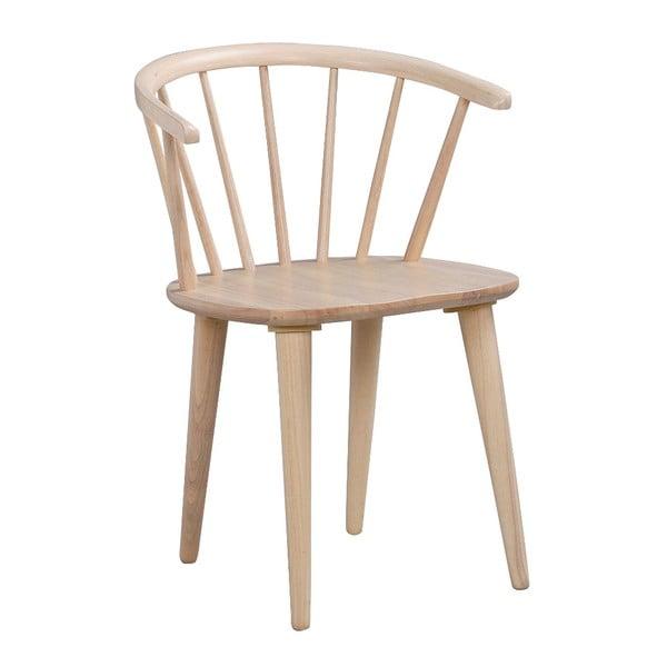 Svetlohnedá jedálenská stolička z dreva kaučukovníka Rowico Carmen