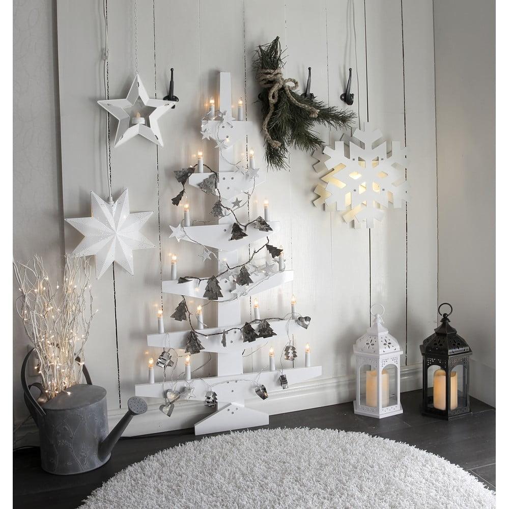Bílá nástěnná svítící dekorace Best Season Wall Tree