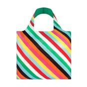 Skládací nákupní taška s kapsičkou LOQI Stripes