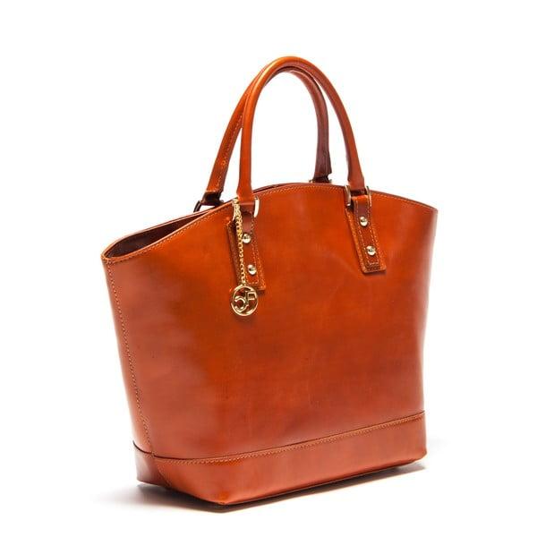 Kožená kabelka Carla Ferreri 351 Cognac