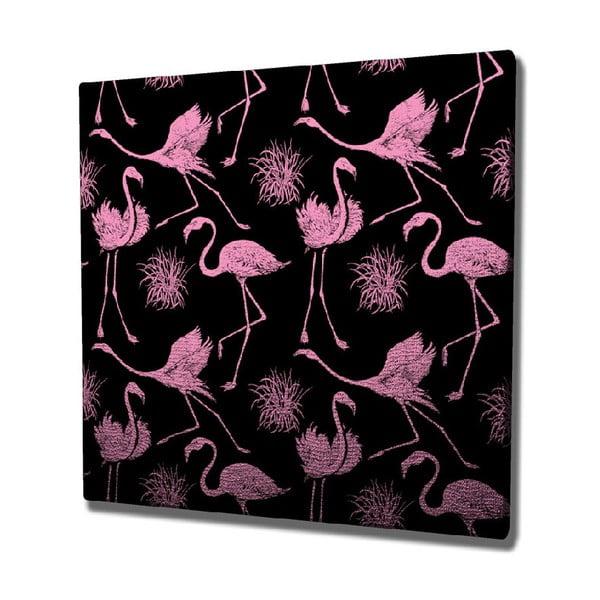 Flamingos vászon fali kép, 45 x 45 cm