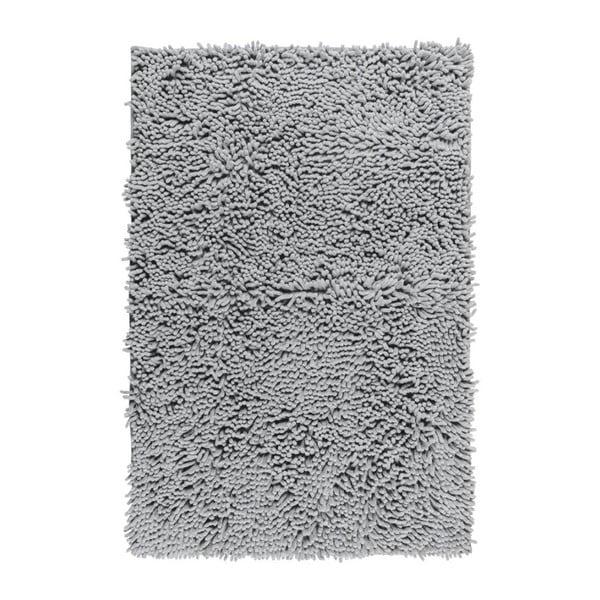 Svetlosivá kúpeľňová predložka Wenko Chenille, 80×50 cm