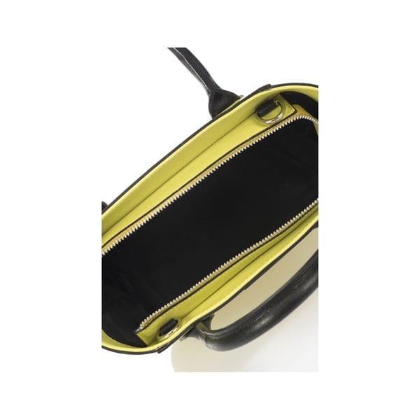 Kožená kabelka Krole Krista 28x32 cm, limetková