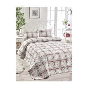 Set béžového přehozu přes postel a 2 povlaků na polštáře Harro Mento, 200 x 220 cm