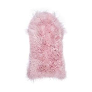 Světle růžová ovčí kožešina s dlouhým chlupem Arctic Fur Ptelja, 100x55cm