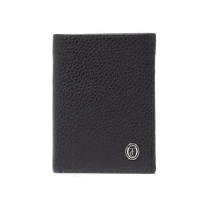 Černá pánská kožená peněženka Trussardi Symbiosis, 12,5 x 9,5 cm