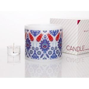 Kruhový svícen na čajovou svíčku Ceramic Tile Tulip