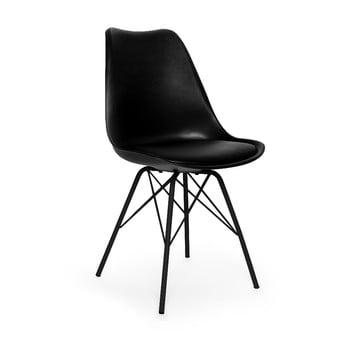 Scaun cu picioare negre din metal loomi.design Eco, negru de la loomi.design