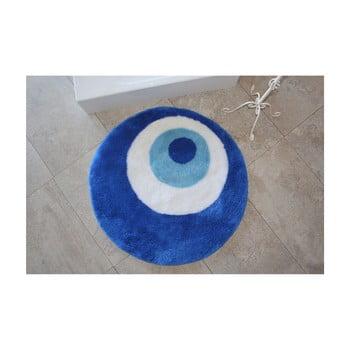 Covor de baie rotund Eye, albastru imagine