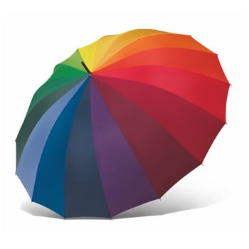 Umbrelă Ambiance Rainbow, ⌀ 130 cm, colorată imagine