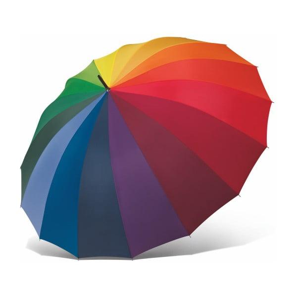 Farebný tyčový dáždnik s rukoväťou Ambiance Rainbow, ⌀130 cm
