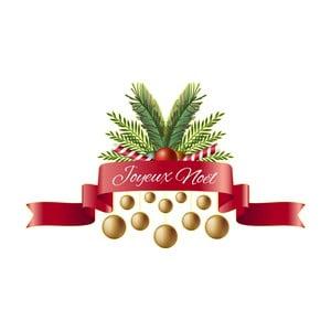 Vánoční samolepka Ambiance Merry Christmas Ribon