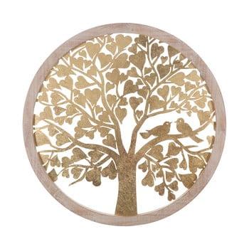 Decorațiune pentru perete Mauro Ferretti Tree, ø80cm, auriu imagine