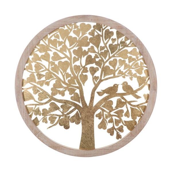 Decorațiune pentru perete Mauro Ferretti Tree, ø80cm, auriu