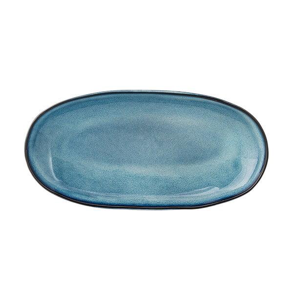 Platou din ceramică Bloomingville Sandrine, albastru