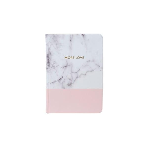 Zápisník Tri-Coastal Design Stockholm Marble, růžový