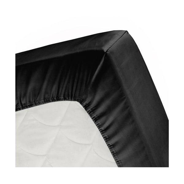 Prostěradlo Split Black, 140x200 cm