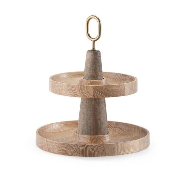 Dvoupatrový dřevěný podnos EMKO Babel