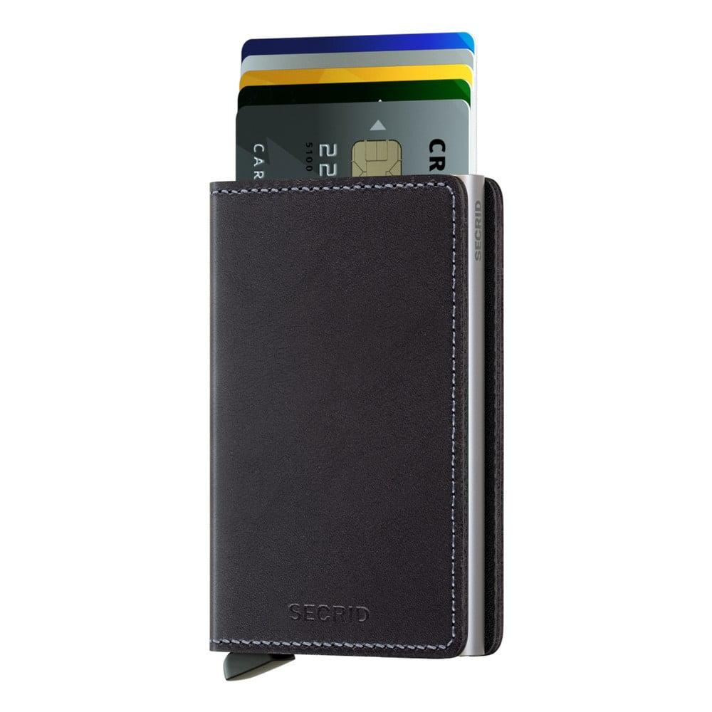 Černá kožená peněženka s pouzdrem na karty Secrid Slim