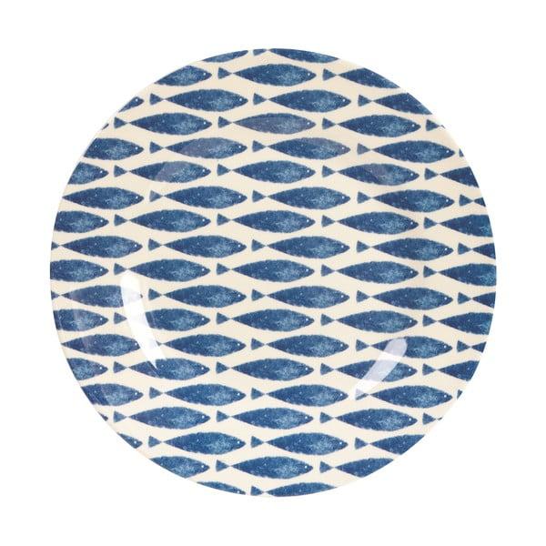 Melaminový talíř Couture Fishie, 25.4 cm