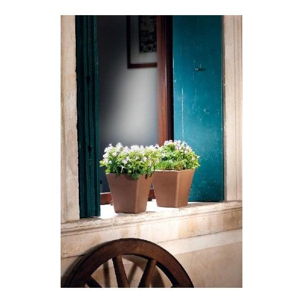 Keramický květináč Liscio 19 cm, moka