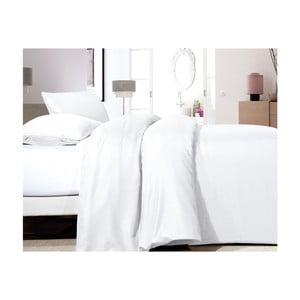 Bílé povlečení z mikroperkálu na jednolůžko Sleeptime Satin,140x200cm