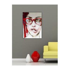 Obraz Dívka s brýlemi, 60x40 cm