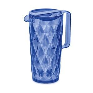 Modrá plastový džbán Tantitoni Crystal, 1,6 l