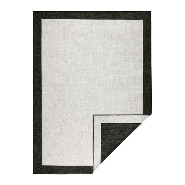 Covor reversibil Bougari Panama, 120 x 170 cm, negru - crem