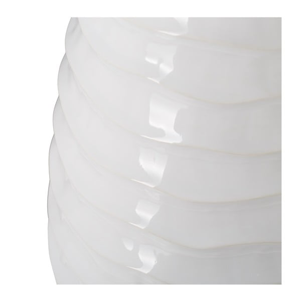 Vază din ceramică Mauro Ferretti Waves, 17 x 41 cm, alb