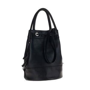 Černá kožená kabelka / batoh Tina Panicucci Carmit
