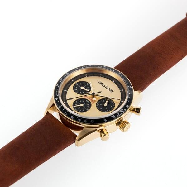 Dámské hodinky s koňakově hnědým koženým páskem Zadig & Voltaire