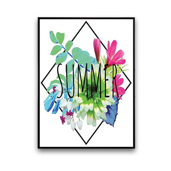 Plakát s květinami Summer, 30 x 40 cm