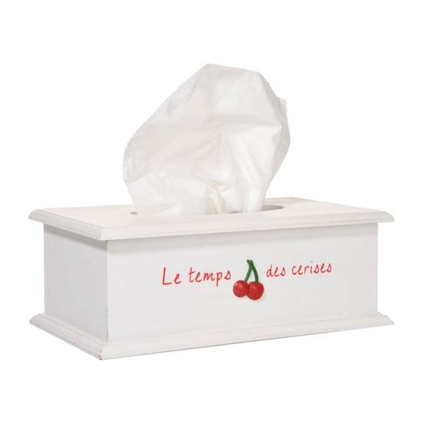 Krabička na kapesníčky La cerise, bílá