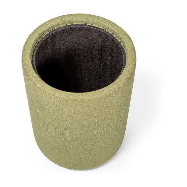 Odkládací stolek v zelené barvě se snímatelnou deskou z dubového dřeva Askala Ibisco, ⌀36cm